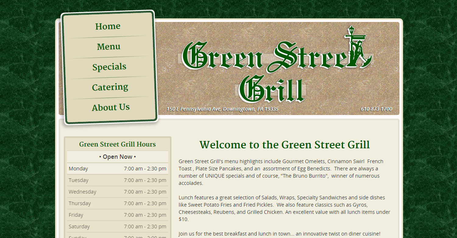 Green Street Grill, Downingtown, PA